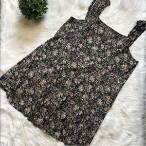 LOFT PLUS 20/22 FLORAL STRETCH DRESS KNIT DRESS